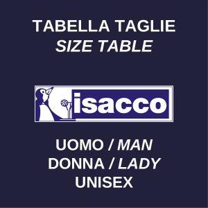 Tabella taglie uomo donna unisex medicale ISACCO